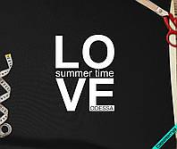 Термопечать для бизнеса на челочно-носочные изделия Love одессочка [7 размеров в ассортименте] (Тип материала Флок)