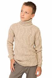 """Шерстяной свитер """"Стюарт"""", цвет бежевый, на рост 128 см"""