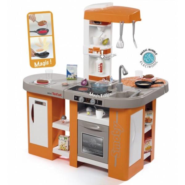 Интерактивная кухня Тефаль Студио большая с эффектом кипения звуковым эффектом аксессуарами оранжевая 311026