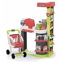 Интерактивный супермаркет City Shop с тележкой продуктами и аксессуарами красный 350211