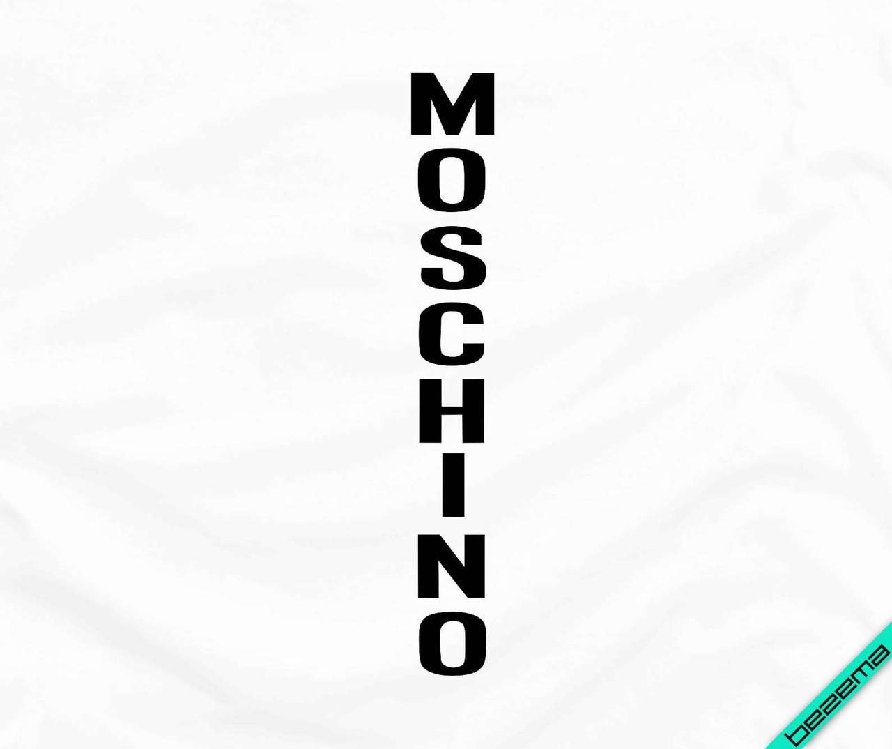 Аплпикации, латки на галстуки Moschino [7 размеров в ассортименте] (Тип материала Матовый)