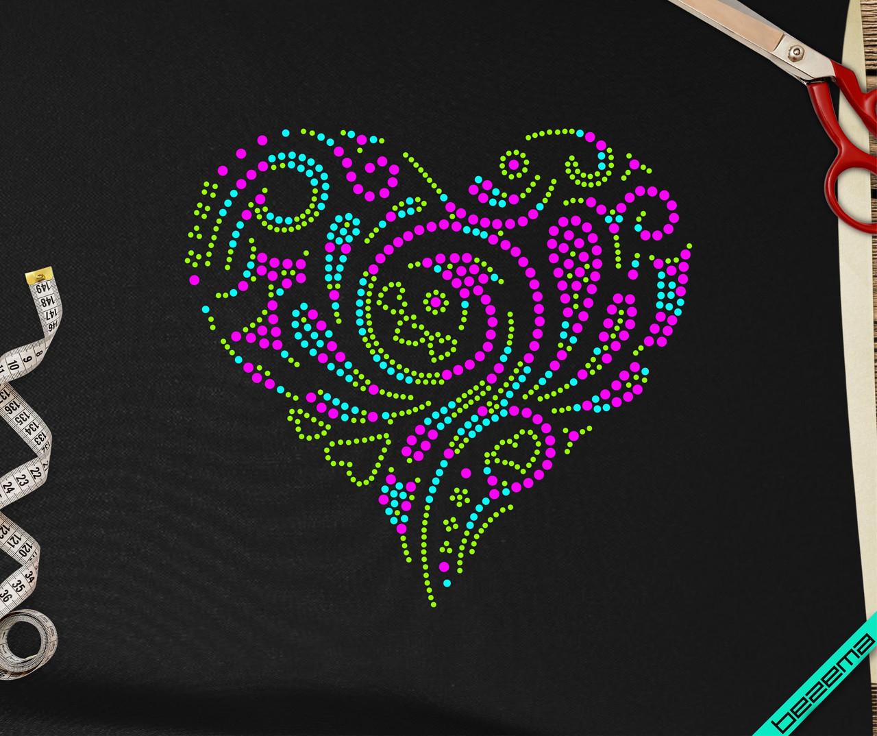 Рисунки на белье для беременных Сердце [7 размеров в ассортименте] (Тип материала Матовый)
