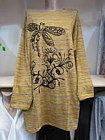 Туника женская c длинным рукавом Турция 56-62 19605