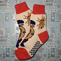 Детские теплые шерстяные носки Кот в сапогах 19 см р. 30-31