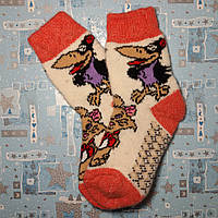 Детские теплые шерстяные носки Ворона 18 см р. 29-30
