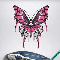 Аплпикации, латки на челочно-носочные изделия Розовая бабочка [7 размеров в ассортименте]