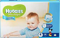 Huggies Ultra Comfort для мальчиков 4 ( 8-14кг) 80шт. Россия
