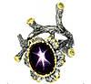 """Необычный перстень """"Багульник """" с звездчатым рубином и хризолитами , размер 17,7 от студии LadyStyle.Biz"""
