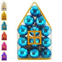 Новогодние ёлочные игрушки 4см 12шт/кор, 8490