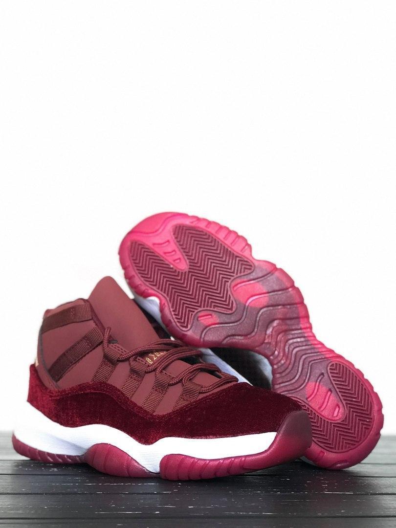 """cb6443c5f452 Женские кроссовки в стиле Nike Air Jordan 11 Retro """"Heiress"""" Bordo -  Интернет-"""