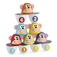 Боулинг детский Страйк обезьян Цветные кегли Chicco 05228