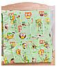 Постель Qvatro GOLD с рисунком (8 элем.,без змеек на защите)  Салатовая (совы на ветках), фото 3