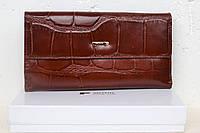 Женский кожаный кошелек с визитницей.