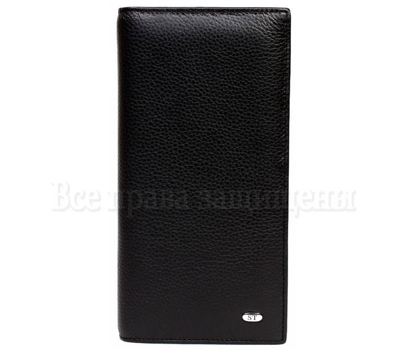 2b8efc4b0d1a Черный стильный мужской кожаный кошелек без защелки в категории кошельки  оптом Украина аналог кошельков M48men