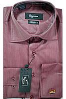 Рубашка приталенная пуговица+запонка