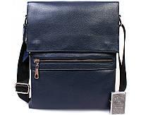 5e29126ca8b9 Мужская кожаная сумка синего цвета из натуральной кожи с клапаном  повседневная av-99blue в категории