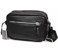 ec88aa33a07b Элитная мужская кожаная сумка горизонтального типа черная av-30-0092 в категории  сумки оптом
