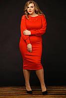 Женское красное платье больших размеров