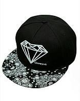 Кепка снепбек Diamond (Диамант) с прямым козырьком Черный
