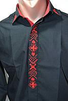 Мужская рубашка с орнаментом slim