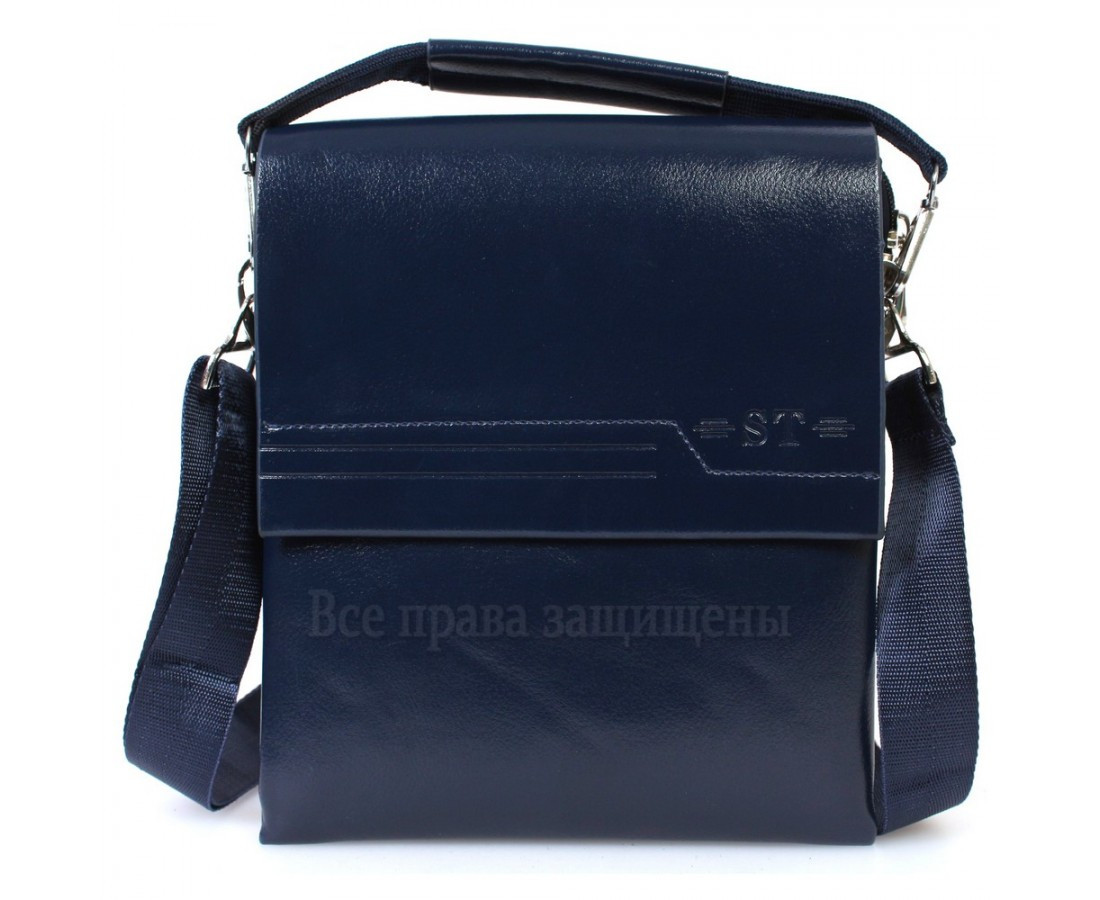 7bd7e9d43308 Элитная сумка через плечо из экокожи синяя 2019-3blue-opt в категории сумки  оптом