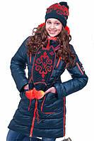 Зимняя куртка для девочек с шарфом