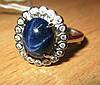 """Элегантный  перстень """"Прелесть"""" с   звездчатым сапфиром , размер 17,3  студия LadyStyle.Biz"""