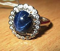 """Элегантный  перстень """"Прелесть"""" с   звездчатым сапфиром , размер 17,3  студия LadyStyle.Biz, фото 1"""