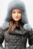 Зимняя женская шапка-ушанка