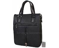 e20974850ef6 Стильная наплечная сумка из натуральной кожи черного цвета с ручкой для  современных мужчин HT-5250