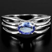 """Хорошенькое кольцо с танзанитами  """"Мадмуазель"""" , размер 18,2 от студии LadyStyle.Biz, фото 1"""