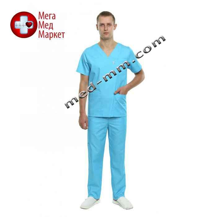 Медицинский костюм Мадрид голубой №133