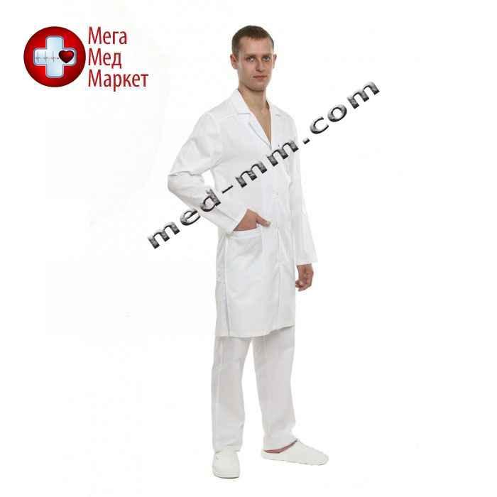 Медицинский халат мужской Лондон белый №135