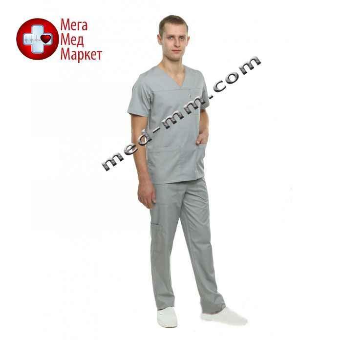 Медицинский костюм Мадрид серый №131