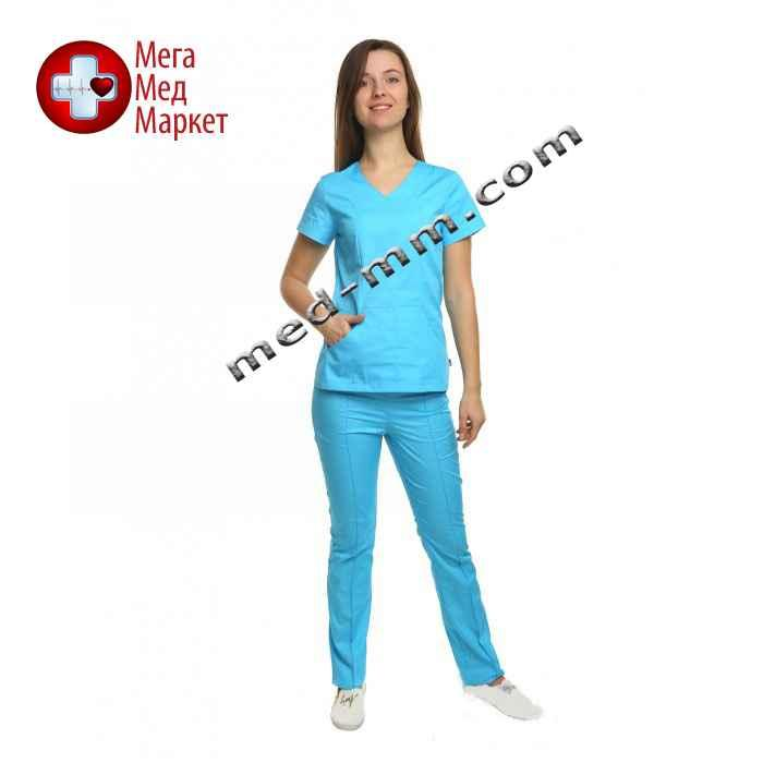 Медицинский костюм Сидней голубой №1076