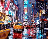 Картины по номерам 40×50 см. Таймс-сквер Художник Ричард Макнейл
