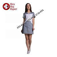 Медицинский халат женский Сидней белый/серый №88