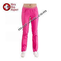 Медицинские штаны розовые №13