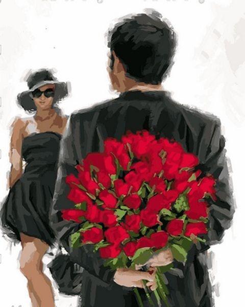 Картины по номерам 40×50 см. Букет Художник Ричард Макнейл