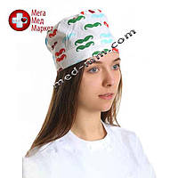 Медицинская шапочка принт №12