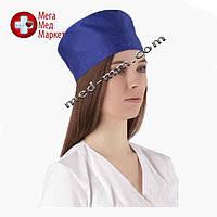 Медицинская шапочка синяя №7