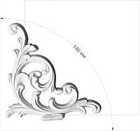 Уголки для рамок - декоративні кутики з гіпсу. Гіпсова ліпнина (лепнина из гипса)