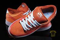 Мужские кеды NIKE SB The Dunk Low Pro SB in Gamma Orange, Urban Orange and Challenge Red ( оранжевый )