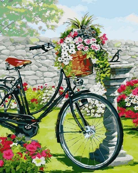 Картины по номерам 40×50 см. Винтажный велосипед Художник Ричард Макнейл
