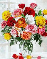 Картины по номерам 40×50 см. Розы Художник Ричард Макнейл, фото 1