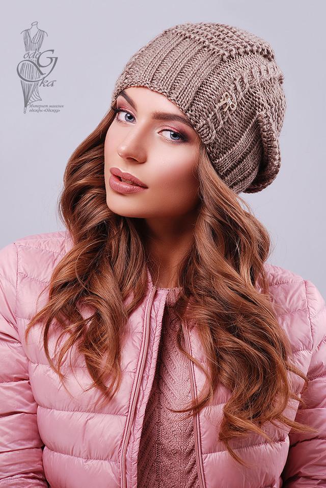 Цвет кофе Вязаных женских шапок Снежка