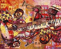Картины по номерам 40×50 см. Джаз-измерение Художник Ларри Пончо Браун, фото 1