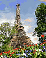 Картины по номерам 40×50 см. Эйфелева башня весной Художник Адриан Честерман
