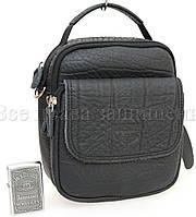 Кожаная борсетка с креплением для ремня SK Leather Collection 215-1-black