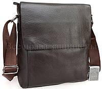 Классическая мужская сумка через плечо коричневая SK716-brown
